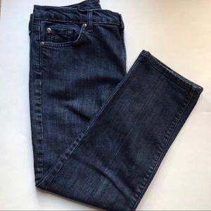 David Kahn cropped capri blue jeans size 31